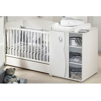 Lit b b avec table langer int gr e lit b b table - Table a langer lit bebe ...
