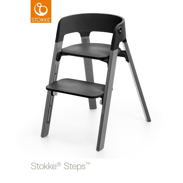 stokke chaise haute b b steps h tre naturel made in b b. Black Bedroom Furniture Sets. Home Design Ideas