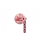 Attache sucette rond Circus rose