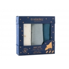 Pack 3 langes bébé coton bio 70x70 cm Night blue