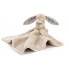 Doudou Lapin Blossom soother - beige - 33 cm