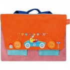 Cartable brodé Orange Cabriolet