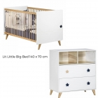 Chambre Duo Lit Little Big Bed 70x140 + Commode Oslo Etoile