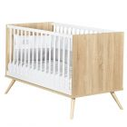Chambre Duo Lit Little Big Bed 140 x 70 + Commode Seventies Blanc
