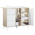 Chambre Trio Lit Little Big Bed 70x140 + Commode + Armoire Happy