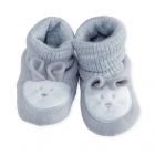 Chaussons lapin gris