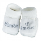 Chaussons maman d'amour blanc