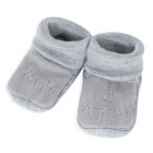 Chaussons mamie d'amour gris