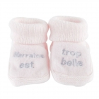 Chaussons marraine rose