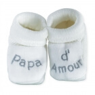 Chaussons papa d'amour blanc