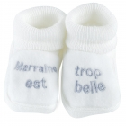 Chaussons marraine blanc