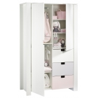 Armoire 2 portes 3 tiroirs City Girl