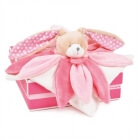 Doudou collector - lapin rose