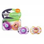 Lot de 2 sucettes Closer to Nature Fun 6-18m (coloris aléatoire)