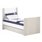 Chambre Duo Lit Little Big Bed 140 x 70 + Commode New Opale sans motif