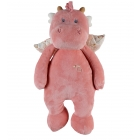 Peluche medium Joy Veloudoux Rose clair