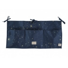 Pochette de lit bébé Merlin Gold stella night blue