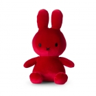 Peluche Miffy Lapin velours rouge 24 cm
