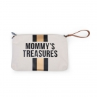 Pochette Mommy's Treasure Blanche et or