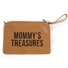Pochette Mommy's Treasure simili cuir brun
