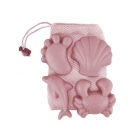 Set de 4 moules de plage Rose