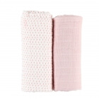 Lot de 2 draps housse coton bio rose 60 x 120 cm Moris & Sacha
