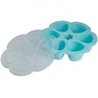 Moule multiportions silicone 6 x 150 ml blue