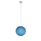Suspension luminaire simple globe S bleu demin