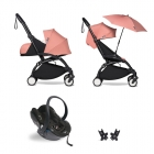 Pack poussette Trio YOYO² complet pack 0+ &  6+ + siège auto YOYO car seat by Besafe + Ombrelle - Châssis Noir - Ginger