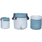 Lot de 3 paniers de rangement Lazare NEW