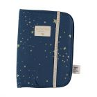 Protège carnet de santé Poema Gold stella night blue