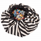 Grand sac à jouets / tapis de jeu 2 en 1 Stripes Black