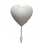 Applique murale Soft Light coeur bleu