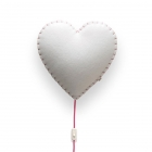 Applique murale Soft Light coeur rose