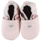 Chaussons cuir Rose 19-20