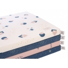 Matelas de sol coton bio St Barth Gold bubble night blue