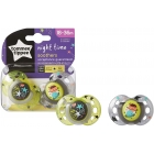Lot de 2 Sucettes Closer to Nature Nuit / Phosphorescentes 18-36m