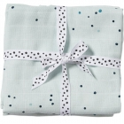 Lot de 2 langes bébé bleues dreamy dots