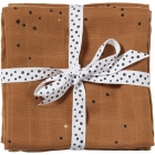 Lot de 2 langes dreamy dots moutarde