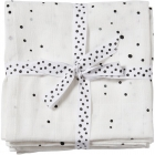 Lot de 2 langes dreamy dots blanches