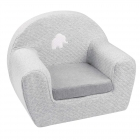 Fauteuil club jacquard gris Tembo