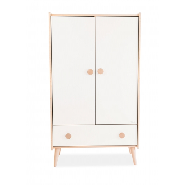 Moulin roty lit barreaux blanc alpin made in b b - Armoire enfant bois massif ...