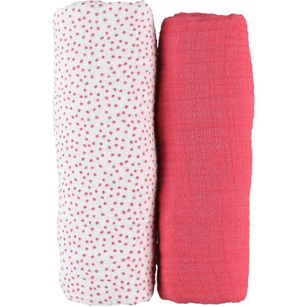 Lot de 2 draps housse coton bio 70 x 140 cm Amy & Zoé