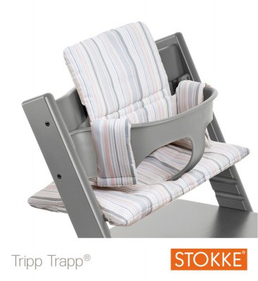 stokke kit baby set pour chaise haute tripp trapp gris made in b b. Black Bedroom Furniture Sets. Home Design Ideas