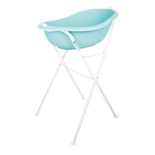 Bebe Confort Baignoire Ergonomique Avec Vidange Support Bleu Made In Bebe