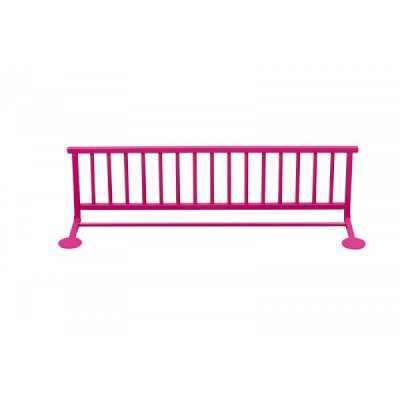 combelle barri re de lit laqu fushia made in b b. Black Bedroom Furniture Sets. Home Design Ideas