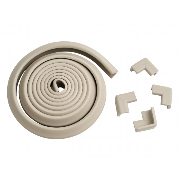 Rouleau de mousse Antichoc + 4 coins de table Gris