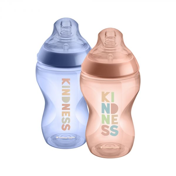 Lot de 2 biberons Déco Fille Closer to Nature 340ml