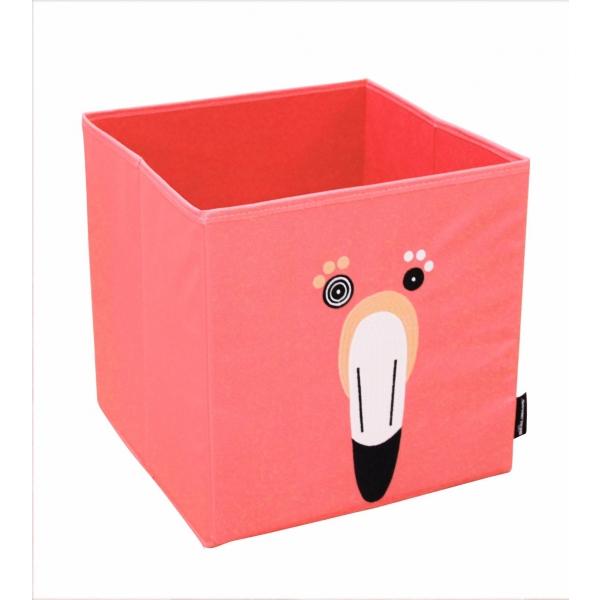 les d glingos bo te de rangement flamingos le flamant rose made in b b. Black Bedroom Furniture Sets. Home Design Ideas