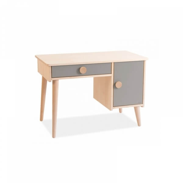 moulin roty bureau enfant bois massif taupe made in b b. Black Bedroom Furniture Sets. Home Design Ideas